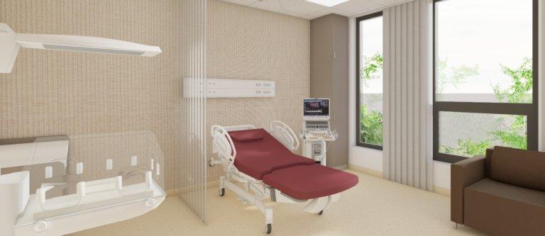 nemocnica bory porodne izby vizualizacia porod lozko inkubator